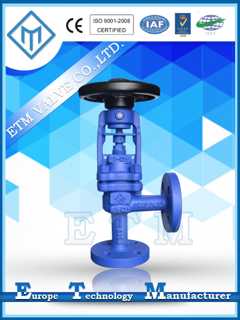 DIN Angle Pattern Bellows Sealed Stop Valve