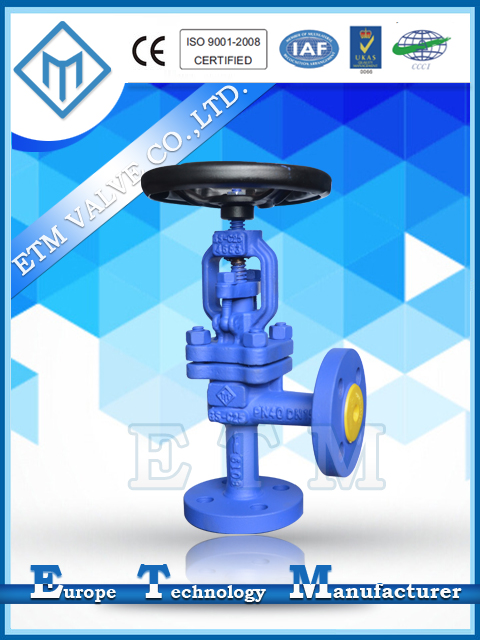 DIN Angle Pattern Gland Packing Globe Valve